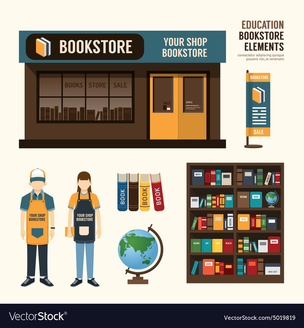 Bookstore Set Design Shop Store Package T Shirt Ca