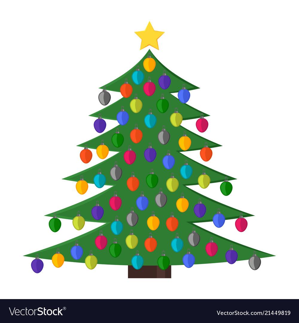 Christmas tree with christmas balls