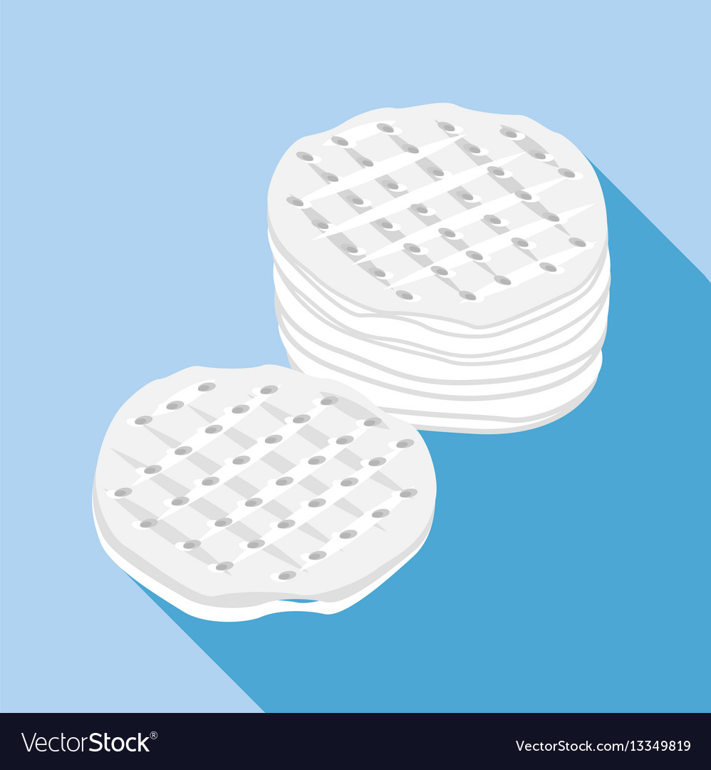 Cotton discs icon flat style vector image