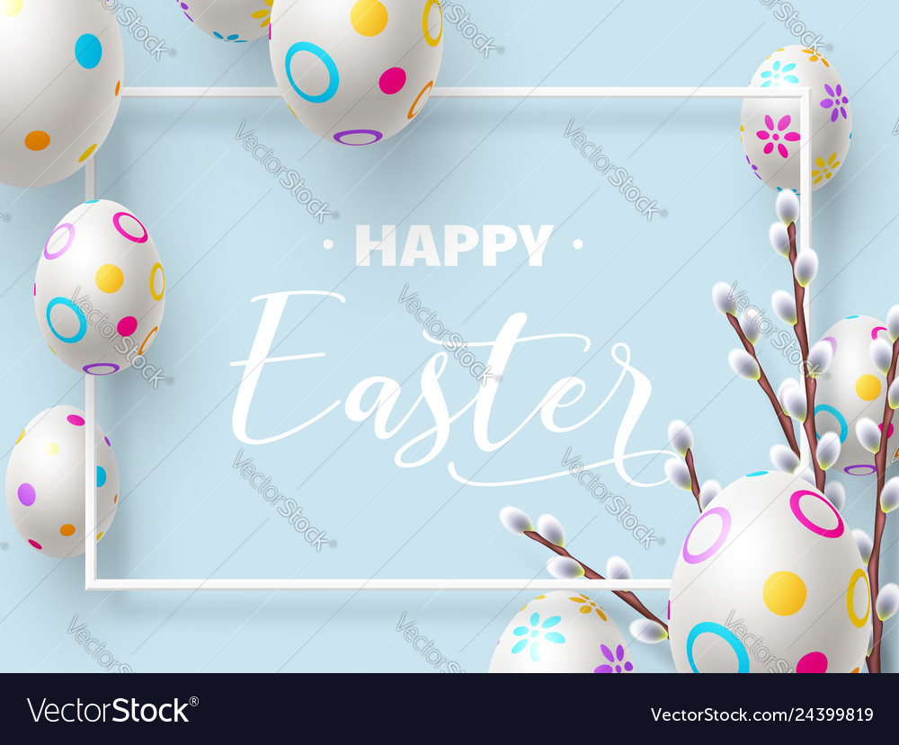 Happy easter holiday composition