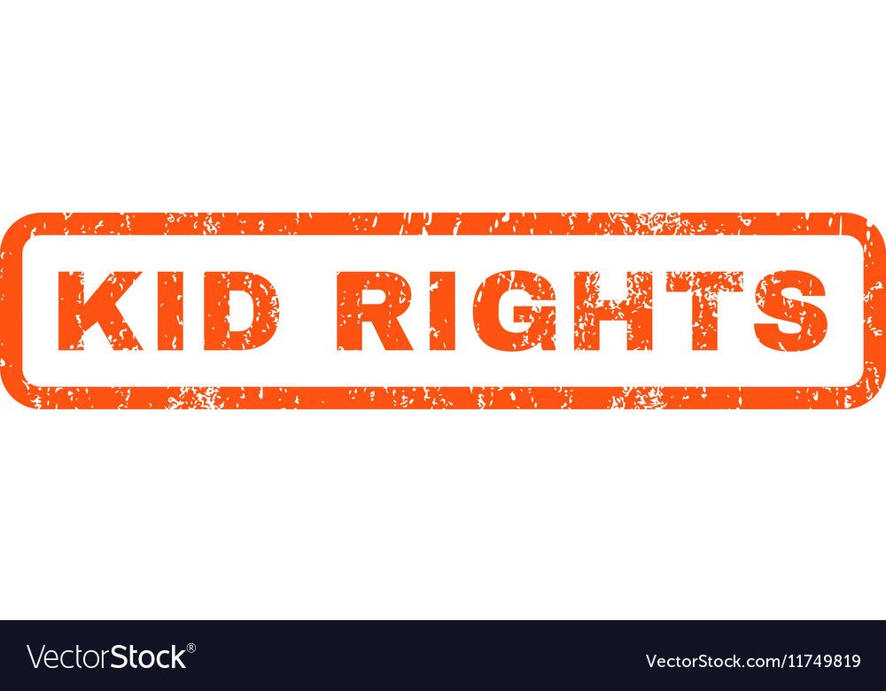 Kid Rights Rubber Stamp Vector Image