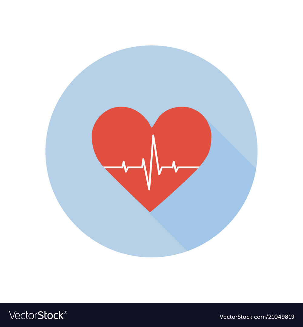 Medical palpitation icon heartbeat healthcare and