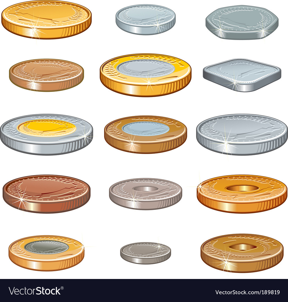 Numismatic coins vector image