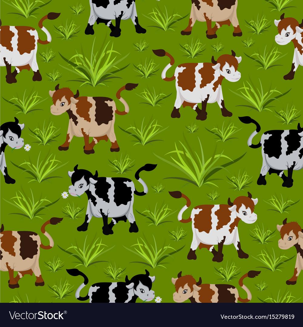 Seamless cow pattern