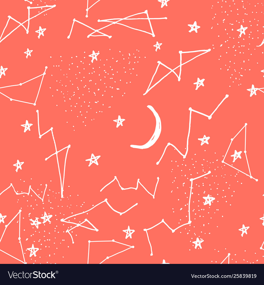 Seamless pattern with constellations seamless