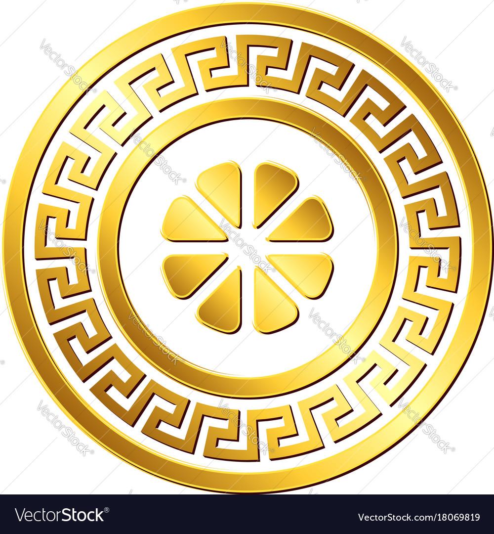 10a737a30cd9 Traditional vintage gold greek ornament meander Vector Image