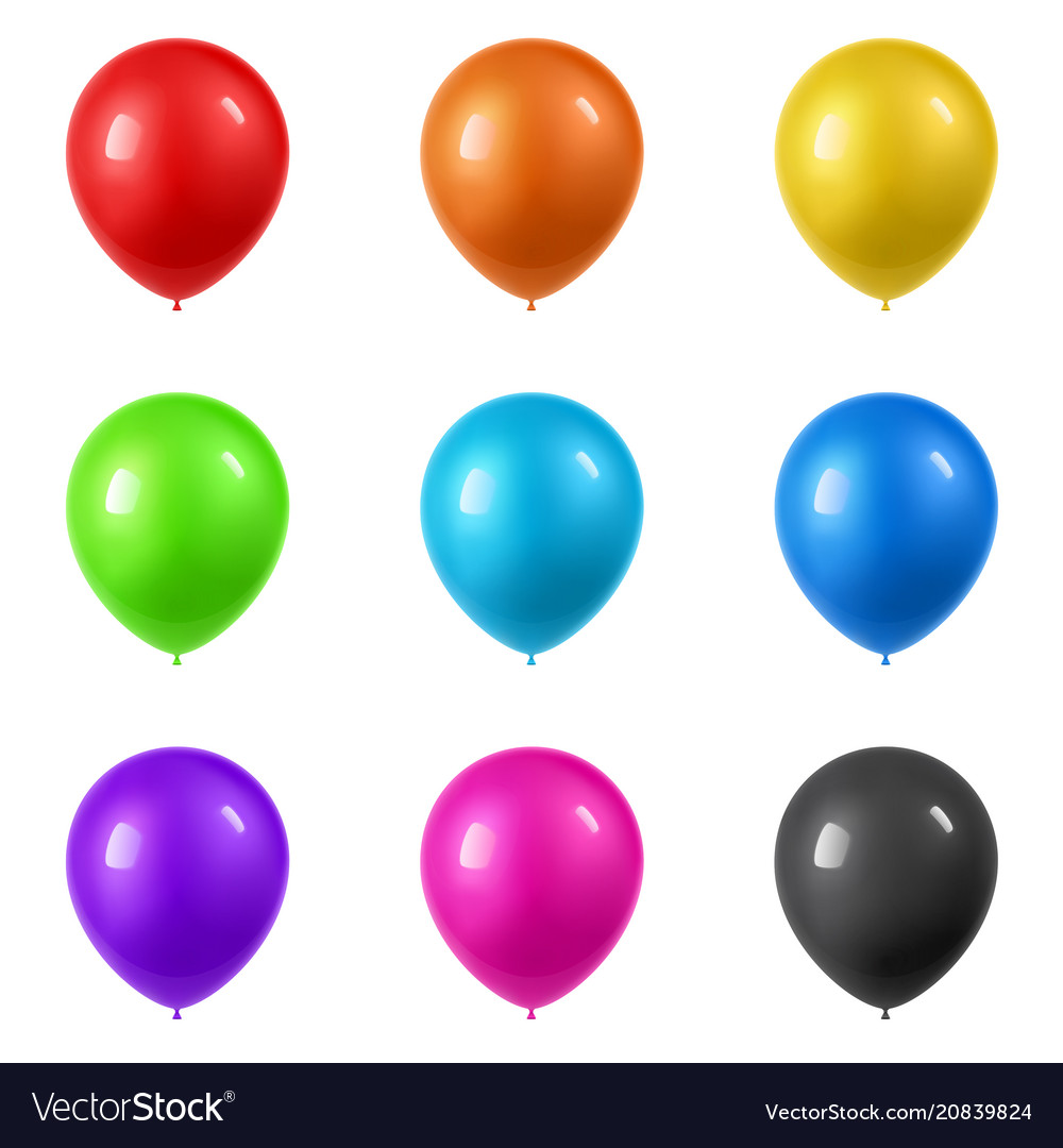 3d realistic colorful balloons collection holiday