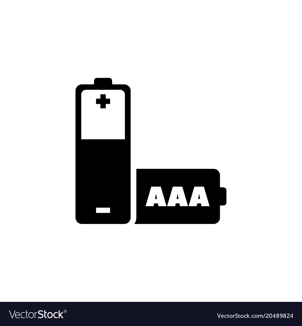 aaa battery flat icon royalty free vector image vectorstock