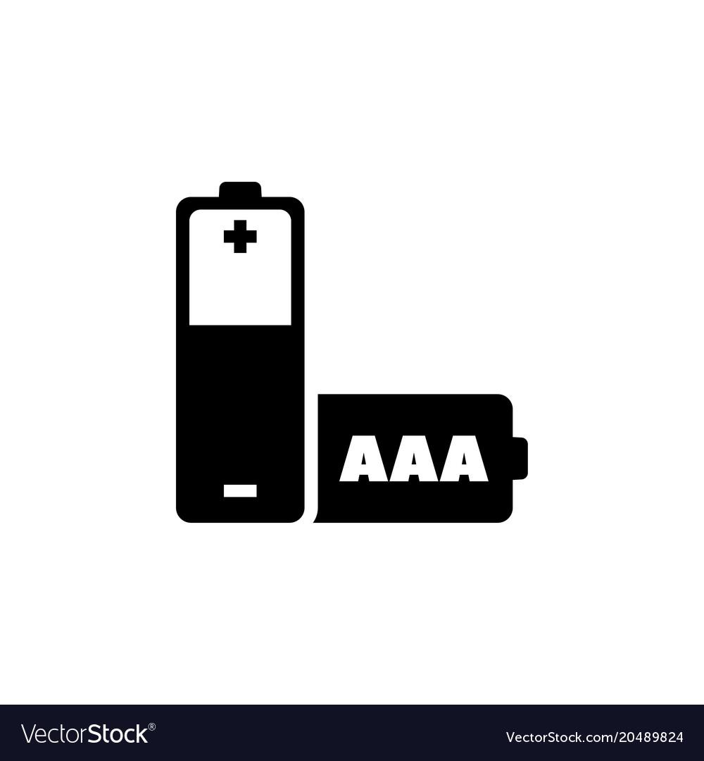 Aaa battery flat icon