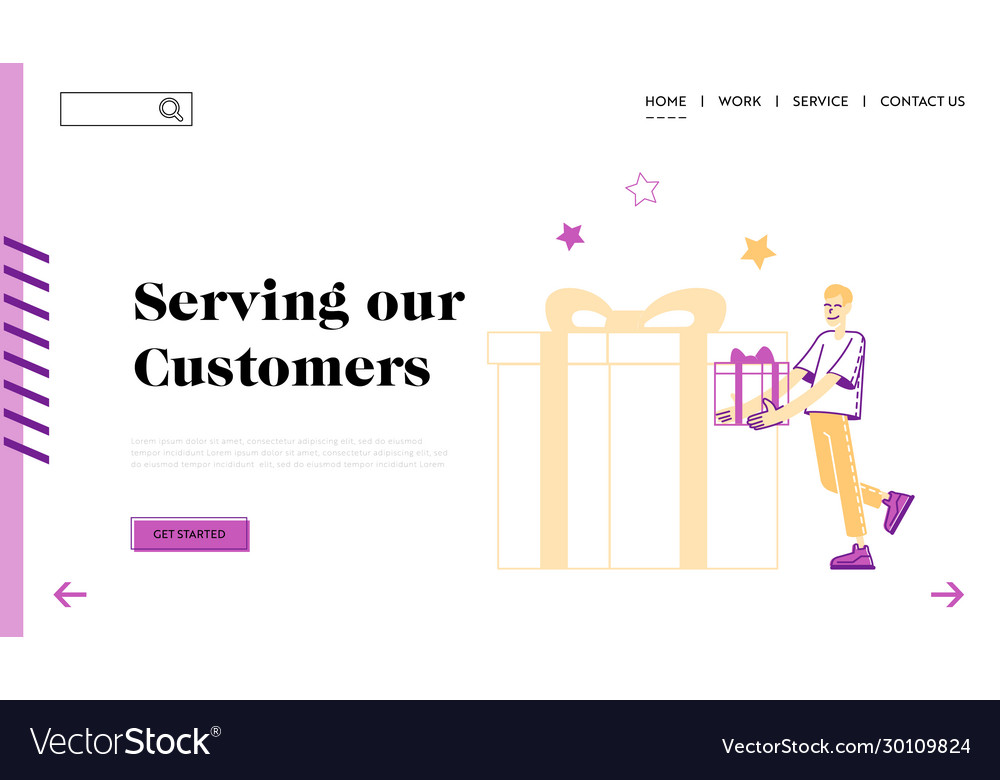 Customer Care And Loyalty Program Landing Page Vector Image