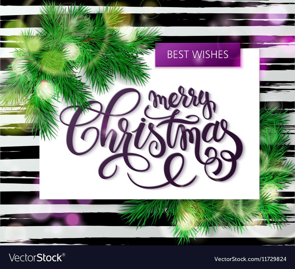 Hand drawn christmas lettering greetings vector image
