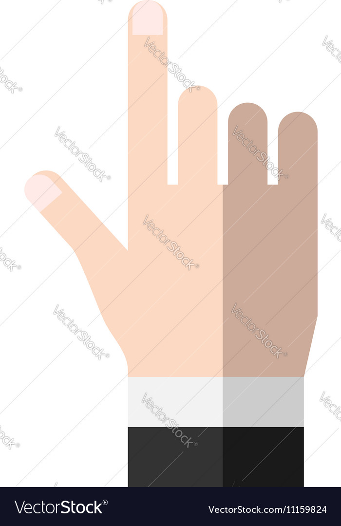 Hand pointing or touching
