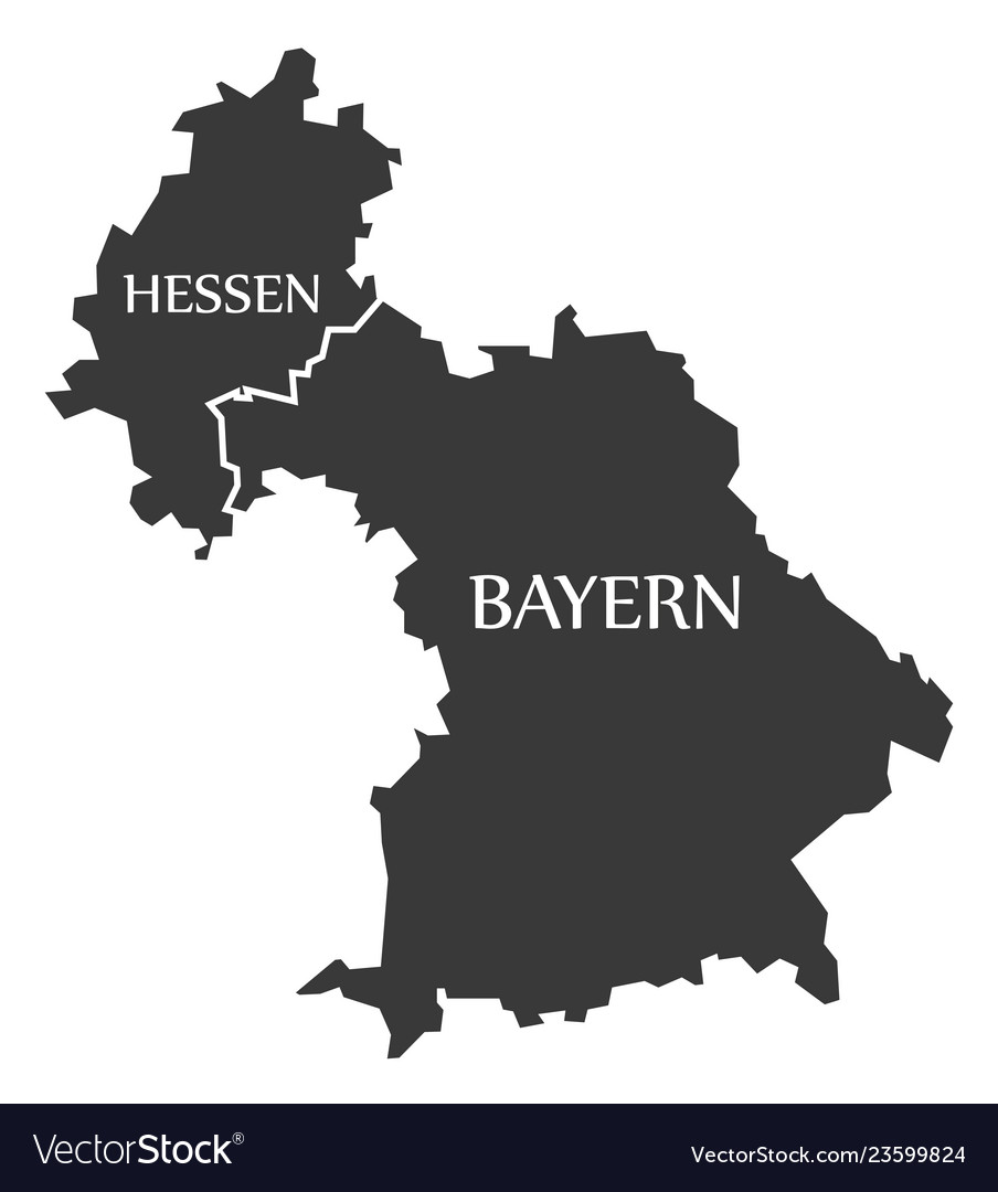 Map Of Germany Bavaria.Hesse Bavaria Federal States Map Of Germany Vector Image