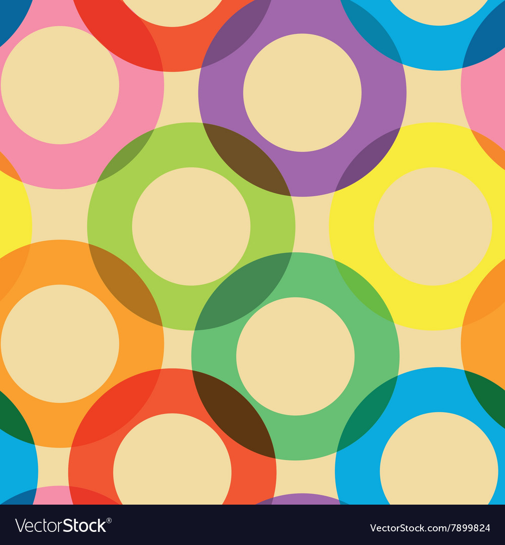 Pattern with colorful circles