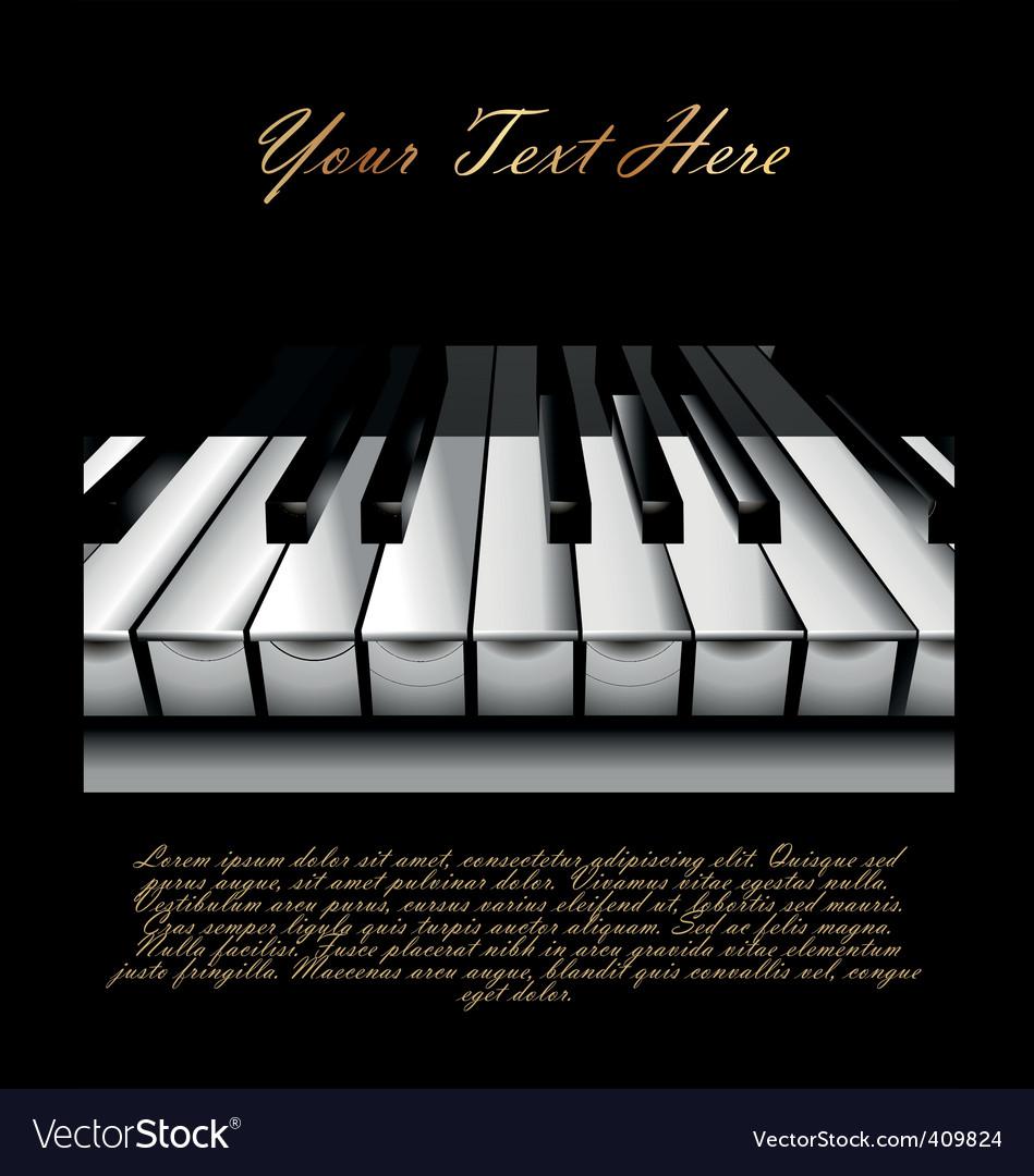 Piano key background vector image