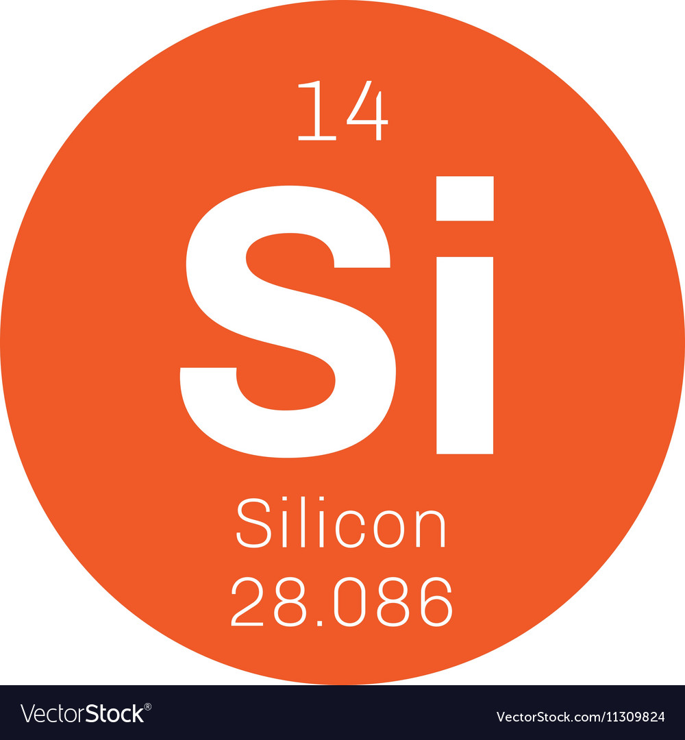 Silicon Chemical Element Royalty Free Vector Image