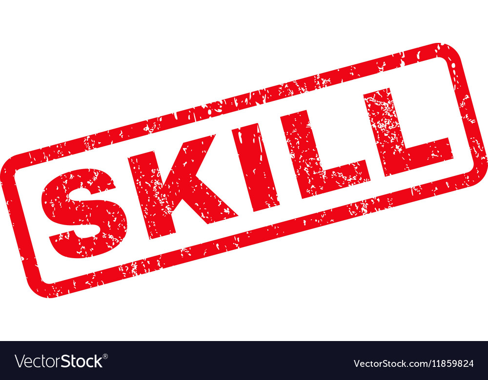 Skill Rubber Stamp vector image