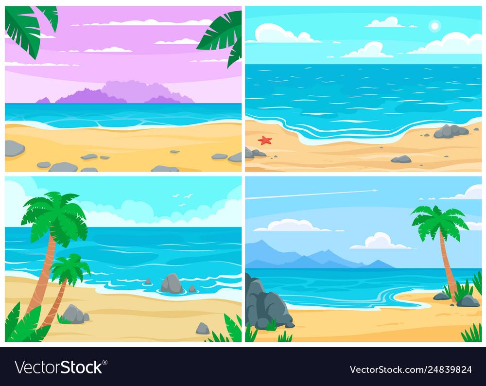 Summer beach ocean or sea shore beaches