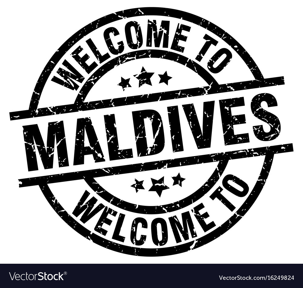 Welcome to maldives black stamp