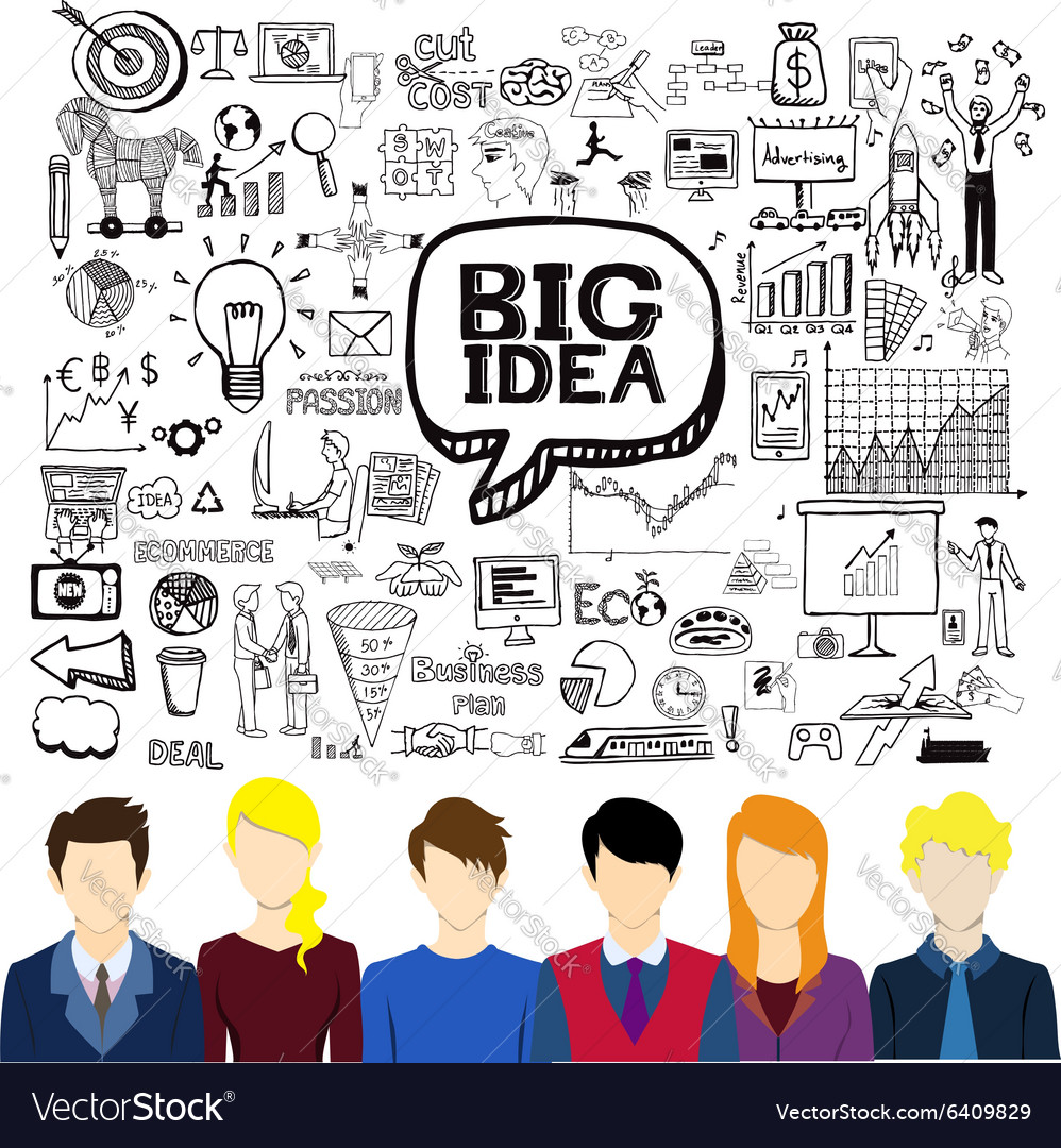 Brainstorming business vector image