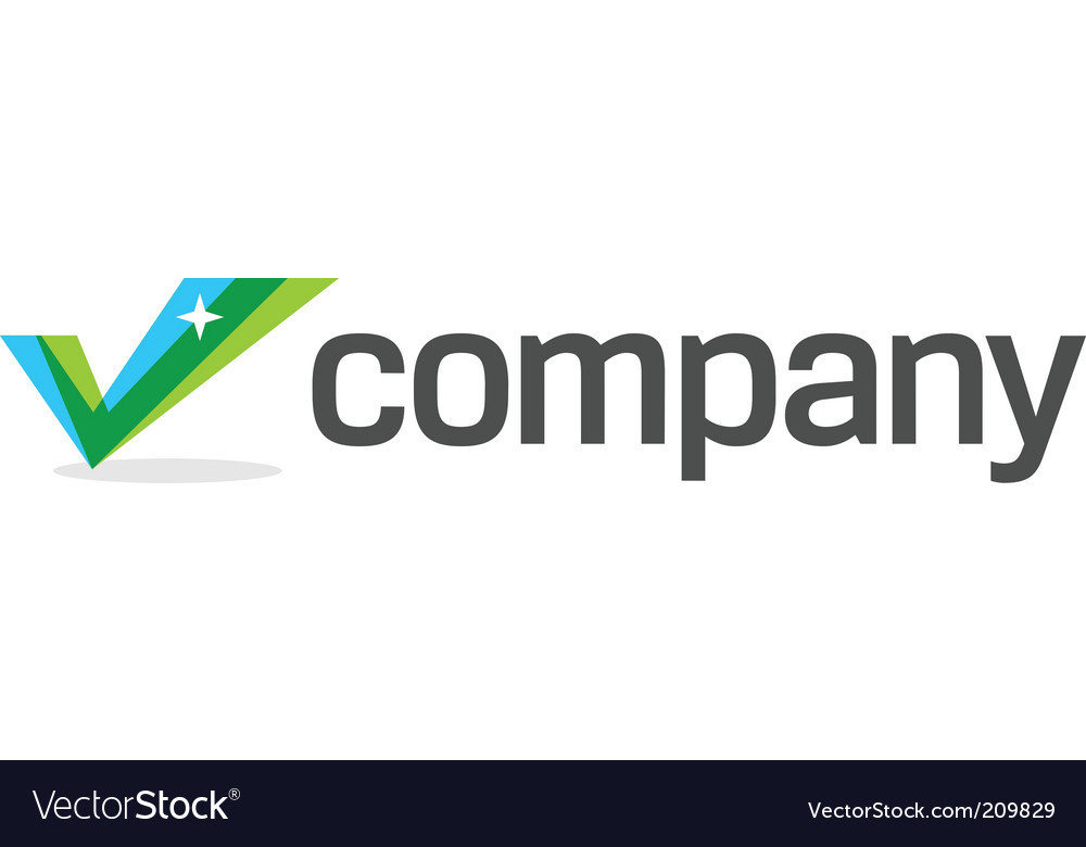 Business check mark logo