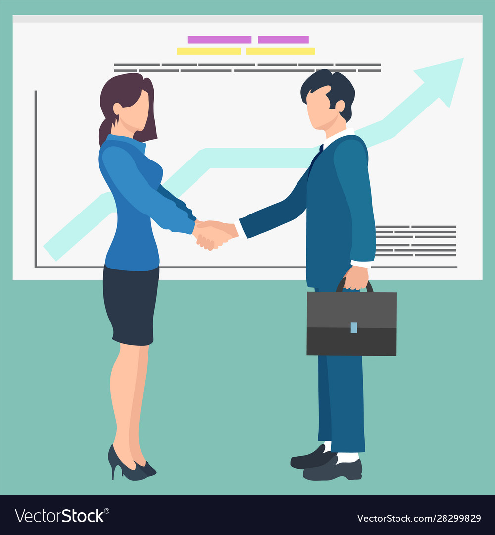 Business people shaking hands agreement