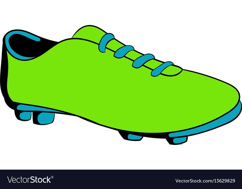 Football boot icon cartoon