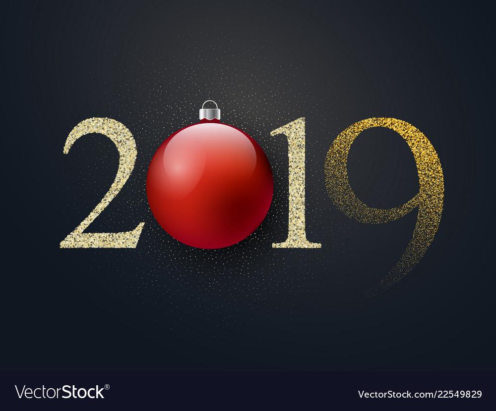Happy new year celebration luxury black background