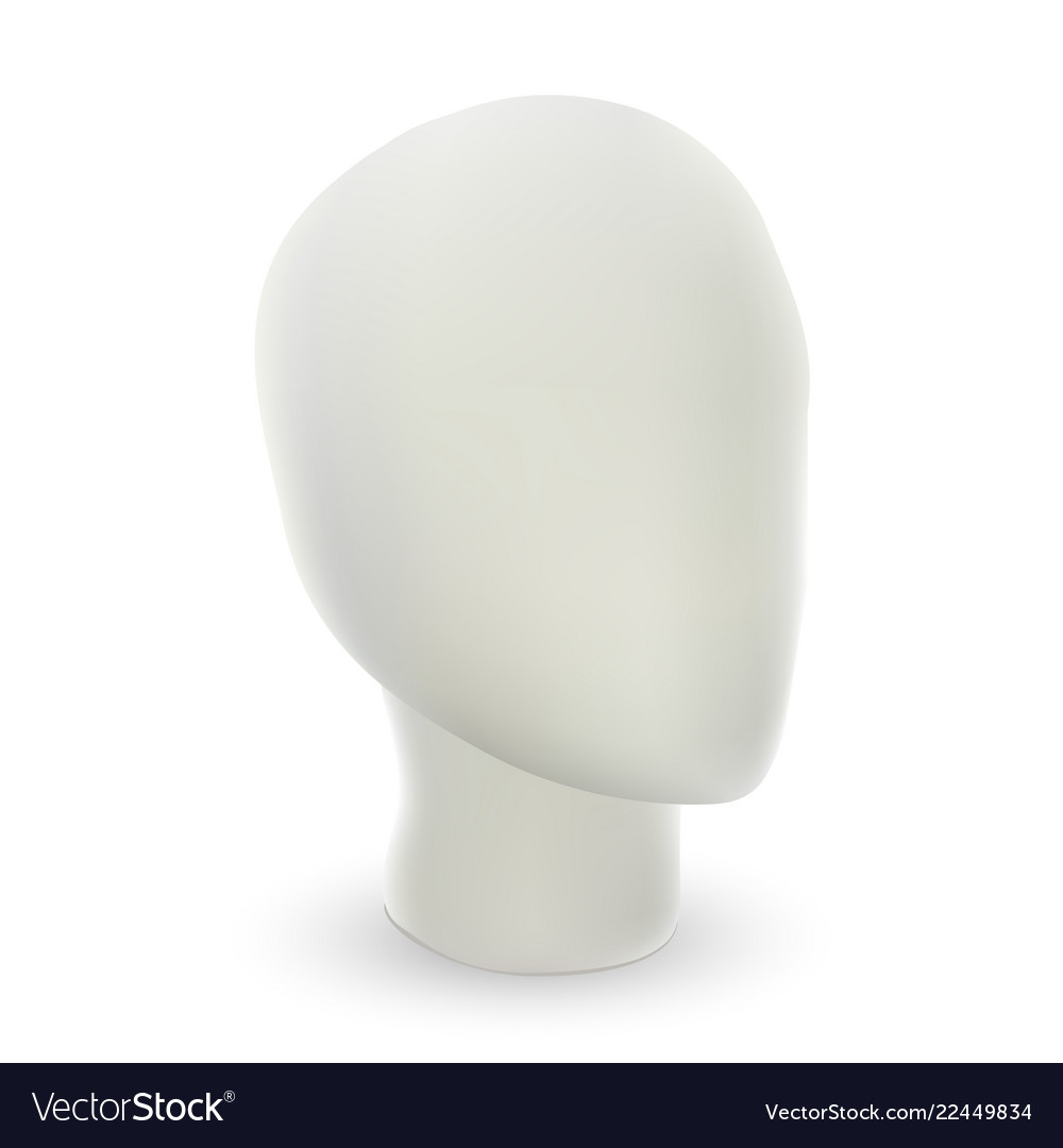 Abstract model of human head 3d simple