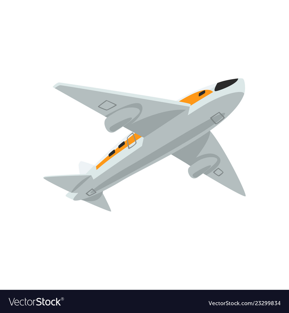 Airplane flying aircraft on a