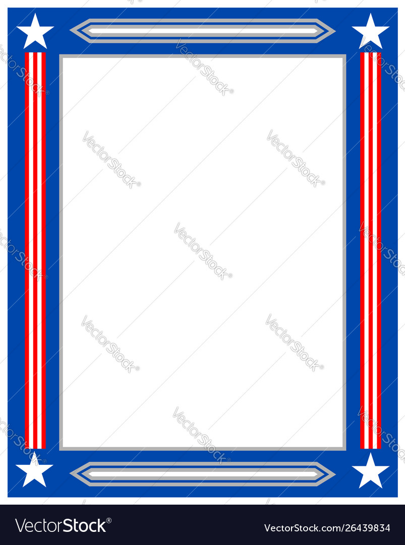 American flag decorative border frame