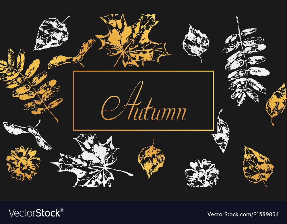 Background with printed leaves