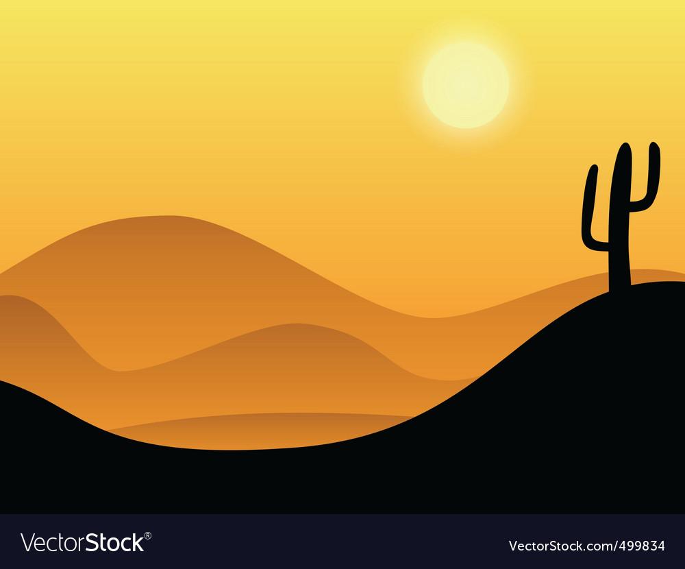Desert background vector image