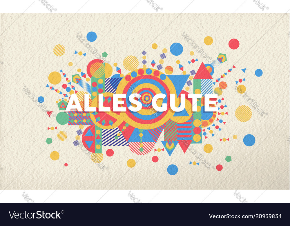 Happy Birthday Greeting Card In German Language Vector Image
