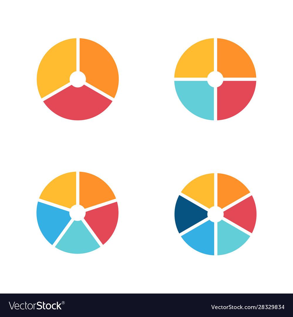 Infographic circle icon set flat style