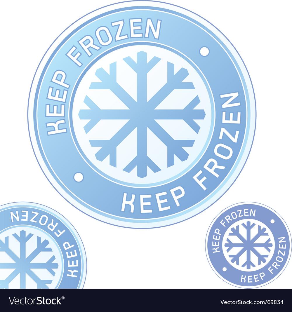 Keep frozen food label vector image