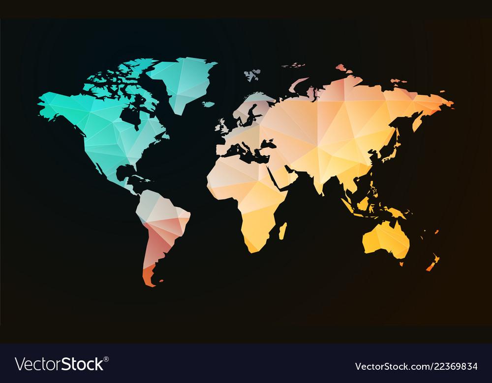 Modern Map Of The World.Modern World Map Pastel Geometric Shape