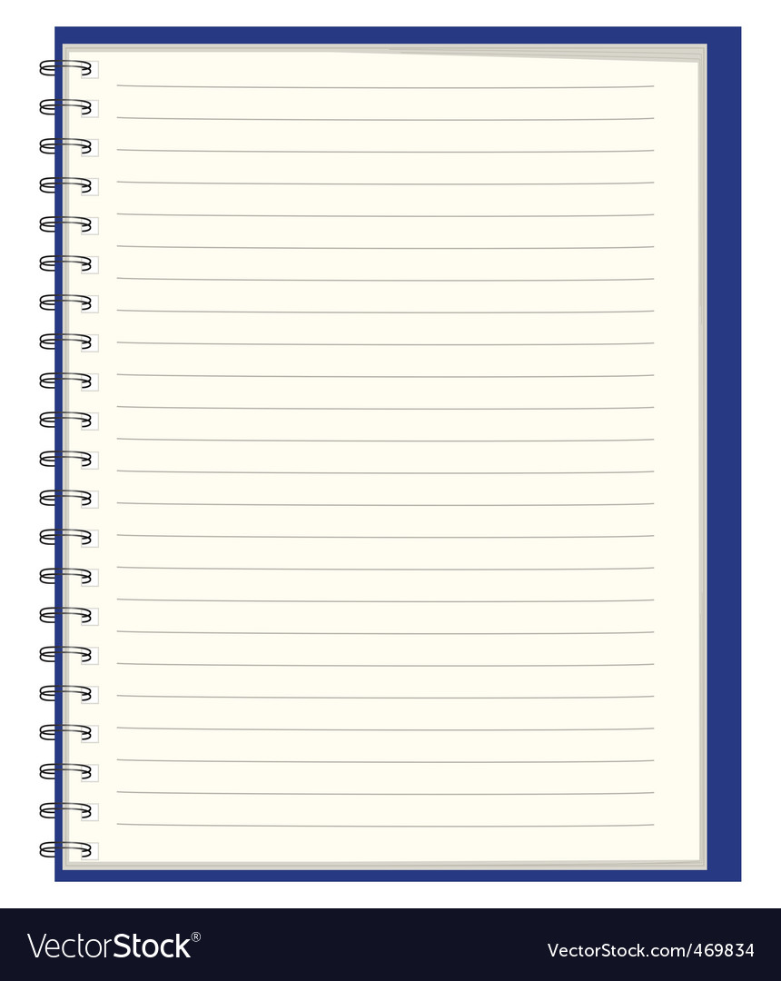 Notebook for records