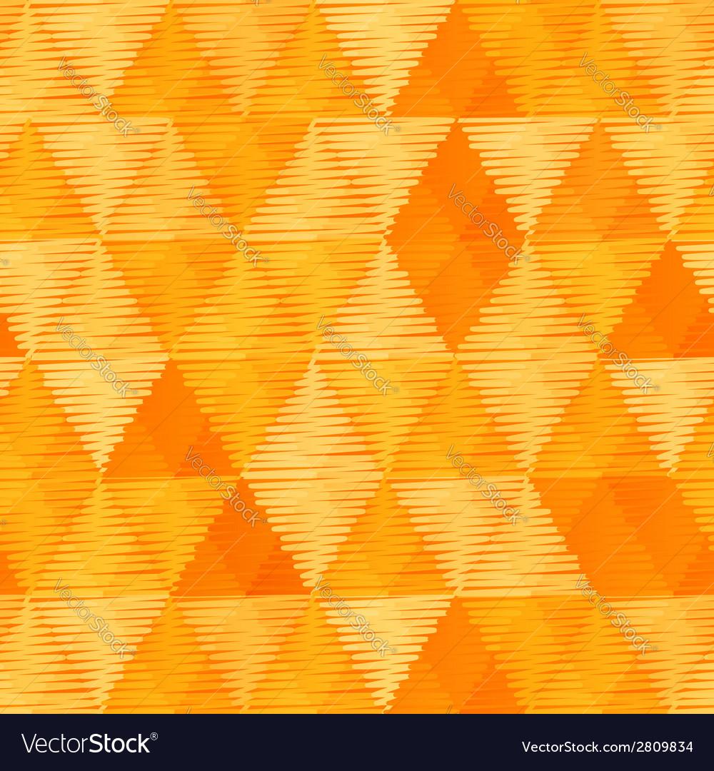 Orange vintage textile triangles seamless pattern
