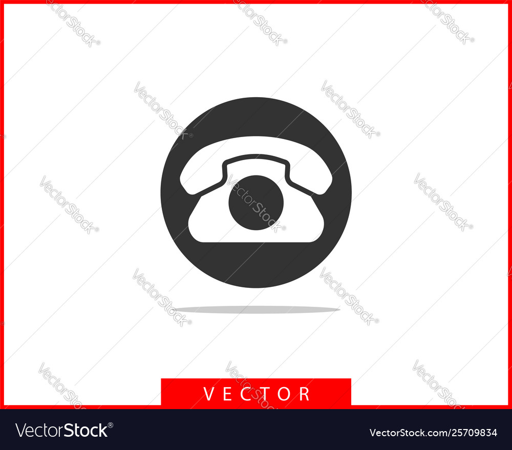 Phone icon call center app telephone icons