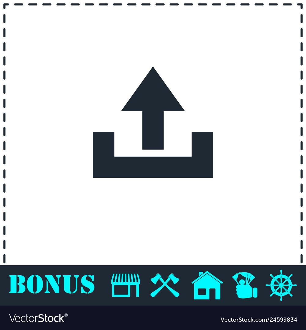 Upload icon flat