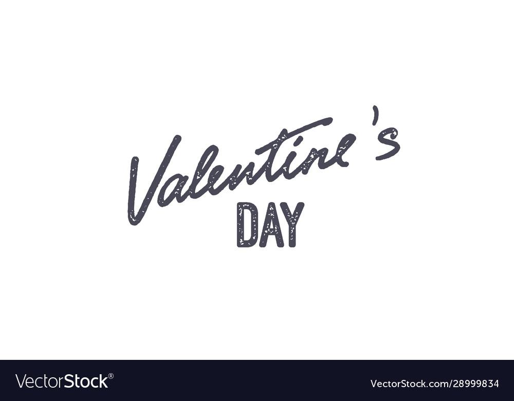 Valentines day handwritten lettering label