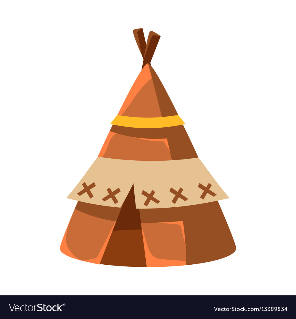 Wigwam leather living hut native american indian