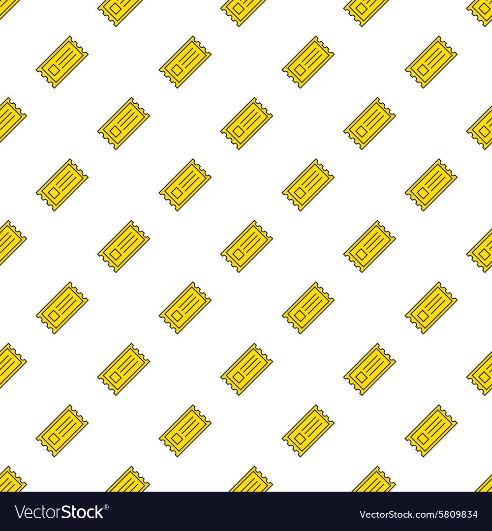 Yellow cinema tickets seamless pattern