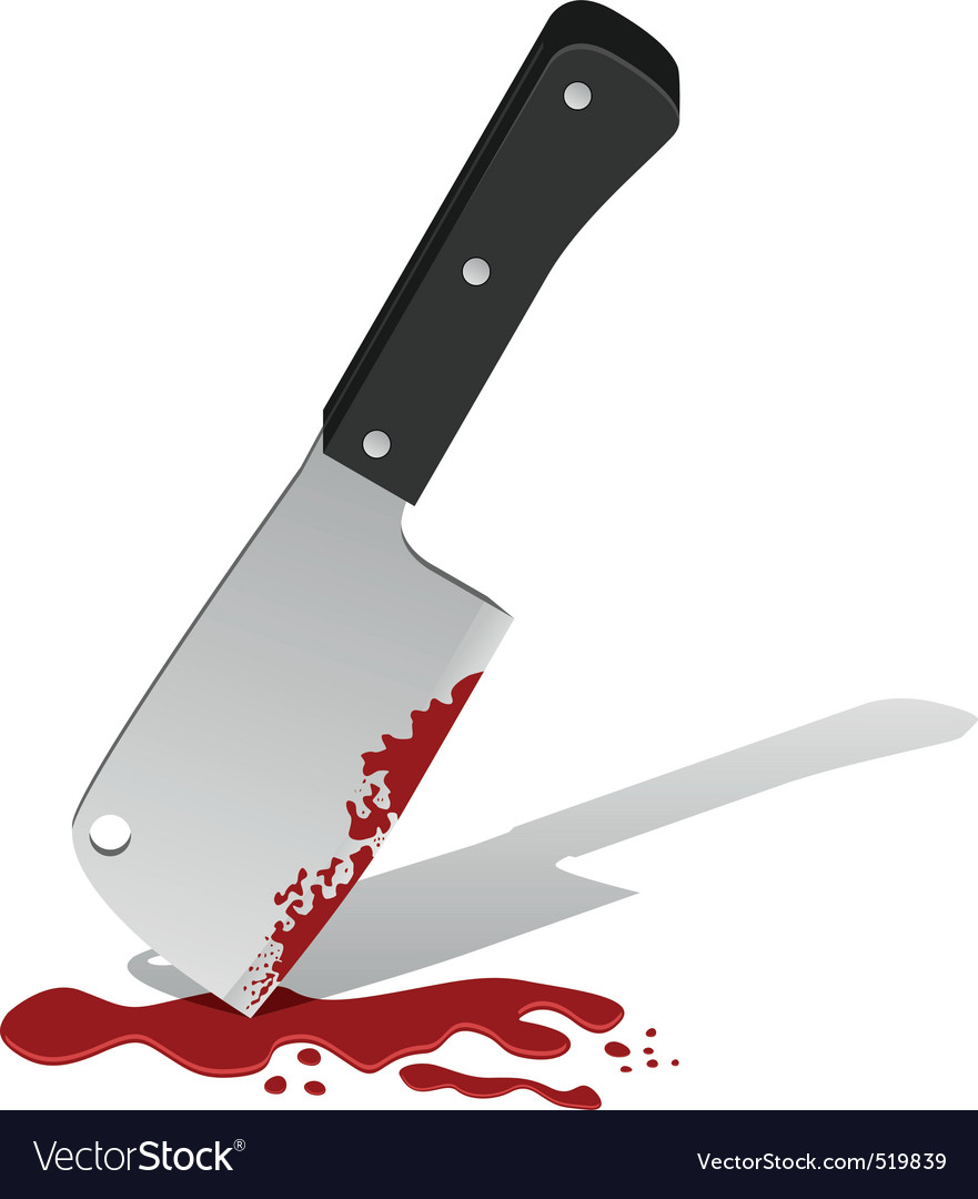 Big knife with blood
