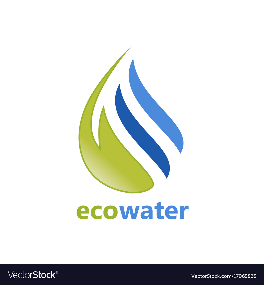 Eco water abstract logo