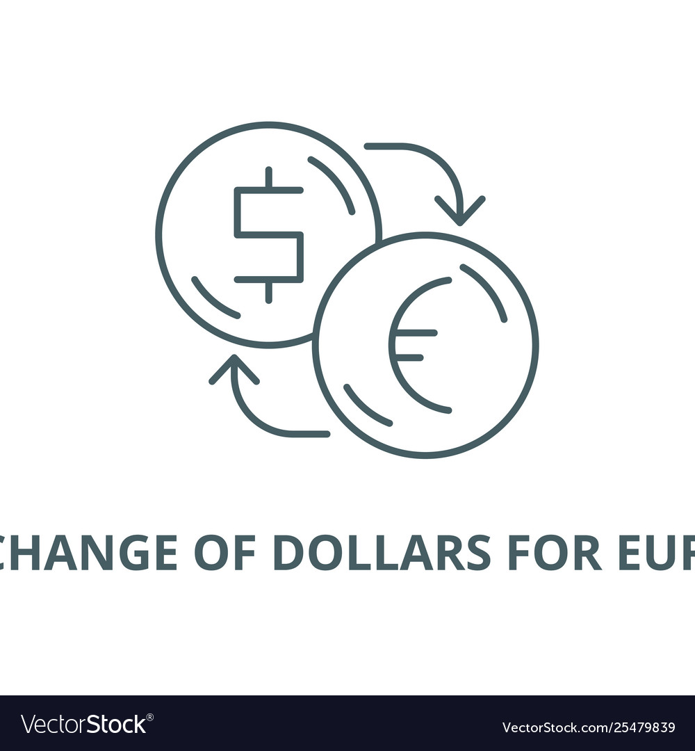 Euros Line Icon Royalty Free Vector