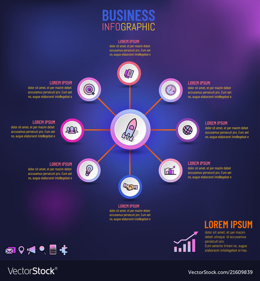 Infographic for business template presentation