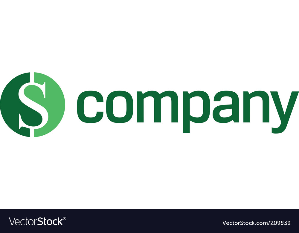 Logo for finance company vector image