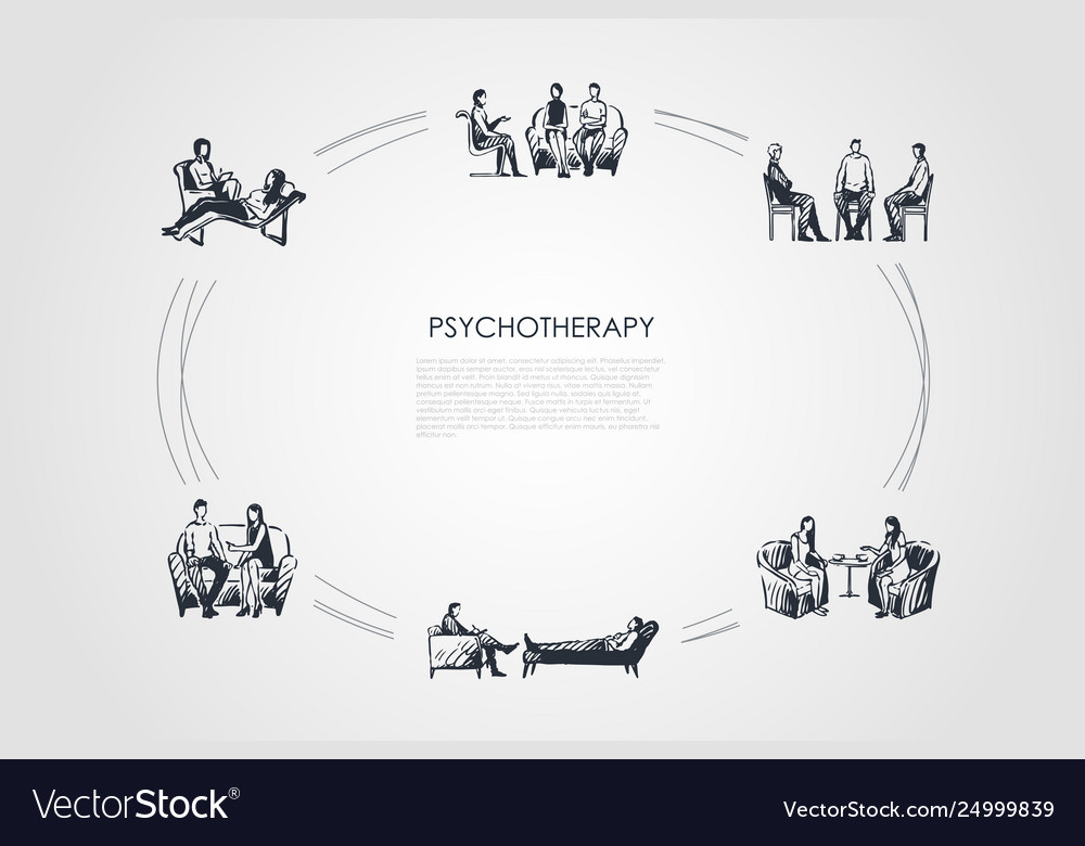 Psychotherapy - psychotherapist speaking with